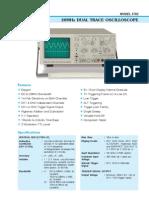 3702 - 20MHz Dual Trace Oscilloscope