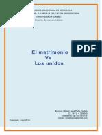 Matrimonio vs Las Uniones de Hecho
