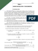 Tema 4- Mezcla de Gases Sin Reaccion y Psicrometria