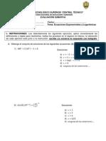 Prueba 6 Ecuaciones Logaritmicas