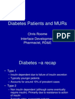 Diabetes Patients and Murs