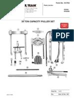 30 Tons Capacity Hydraullic Puller Set