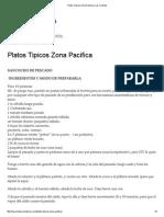 Platos Tipicos Zona Pacifica _ Las Comidas