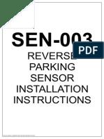 SEN 003 Installation