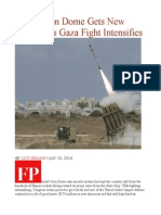 Israel's Iron Dome Gets New Funding as Gaza Fight Intensifies