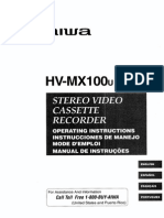 AIWA HX-MX100U Operators Manual