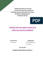 Informe de Mecanizacion