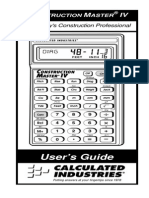 Construction Master IV Calculator ug4045E B