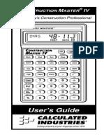 Construction Master IV Calculator ug4045E B