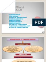 1.-Introduccion a La Administracion