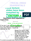 4-Reactance And Impedence - Capacitive