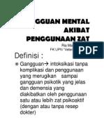 Gangguan Mental Akibat Zat