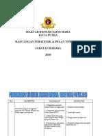 Perancangan Strategik Jabatan Bahasa 2010