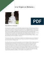 Aparición de La Virgen en Betania