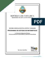 Programa Matematica 2012