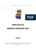 Informe Mina Rulita Modelo Gemcom 2010