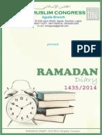 TMC Aguda_Ramadan Diary 1435 Final English