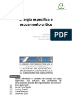 Energia Específica e Escoamento Crítico