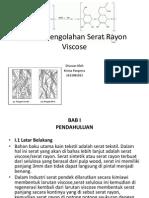 Proses Pengolahan Serat Rayon Viscose