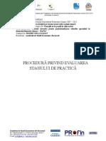 Procedura Evaluare Stagiu de Practica