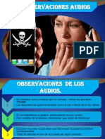 Observaciones Audios Extorsion y Secuestros