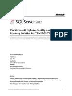 Temenos T24 and Microsoft SQL Server HADR White Paper(1)