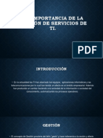 Importancia de La Gestión de Servicios de TI y Ciclo de Vida de Los Proyectos(2)