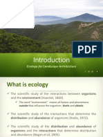 Ecological Landscape Arch-1 Introduction