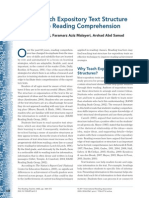 how to teacher expository text structure to facillitate reading