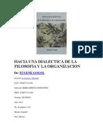 Reseña Hacia Una Dialectica de La Filosofia y La Organizacion