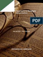 Hebraic Approach to Scripture Interpretation