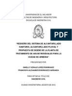 Rediseño Del Sistema de Alcantarillado Sanitario%2Calcantarillado Pluvial y Propuesta de Diseño de La Plantas de Tratamiento de Aguas Residuales Para La Ciudad de Armenia.