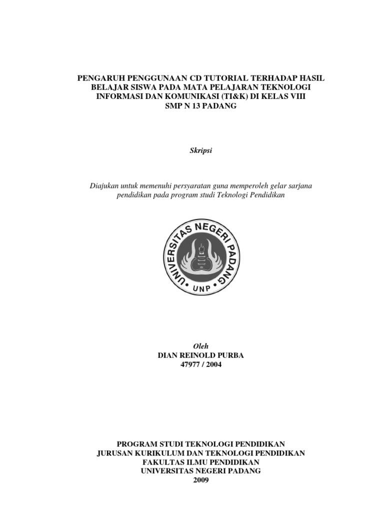 Skripsi Eksperimen Teknologi Pendidikan