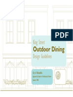 Outdoor Dining Design Guidelines