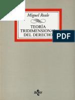 Reale Teoria Tridimencional Del Derecho