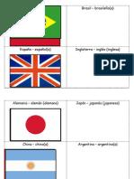 Nacionalidades Con Banderas