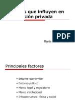 Factores Que Influyen en La Inversión Privada