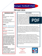 Echunga Netball Newsletter 2014
