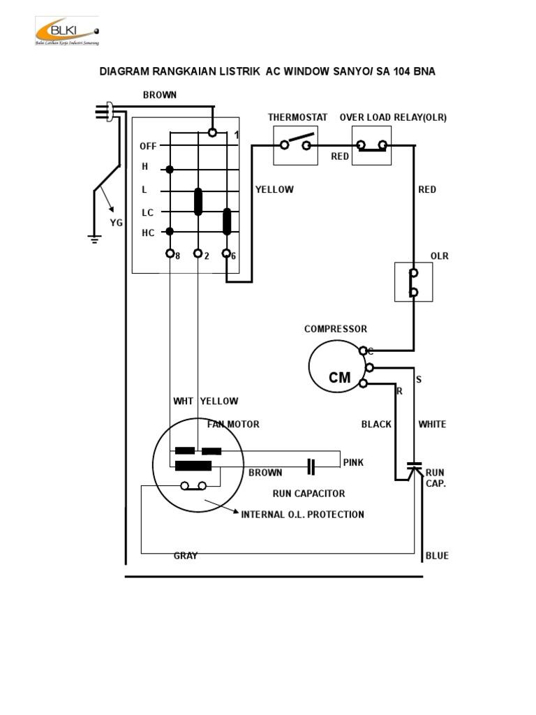 Diagram rangkaian listrik ac window sanyo ccuart Choice Image