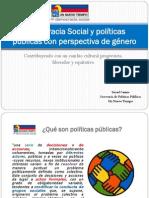 Democracia Social y Políticas Públicas Con Perspectiva De
