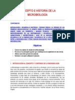 Concepto e Historia de La Microbiología