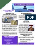 Murugan Temple Newsletter - July August September 2014
