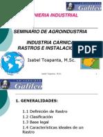 Industria Carnica Rastros Instalaciones