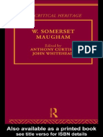 Anthony Curtis-W. Somerset Maugham (1997)