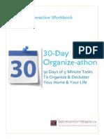 30 Day Organize Athon 1