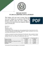 Bexar County, Texas 2013-14 Budget