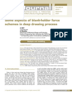 Some aspects of blank-holder force schemes in deep drawing process