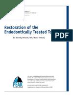 PEAK Restoration of the Endodontically Treated Tooth