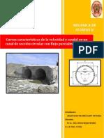 Informe de Mecánica de Fluidos II Canal Sec. Circ Parc Lleno