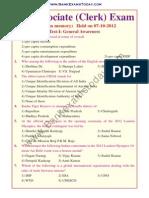 SBI Associate Clerk 2012.Text.marked
